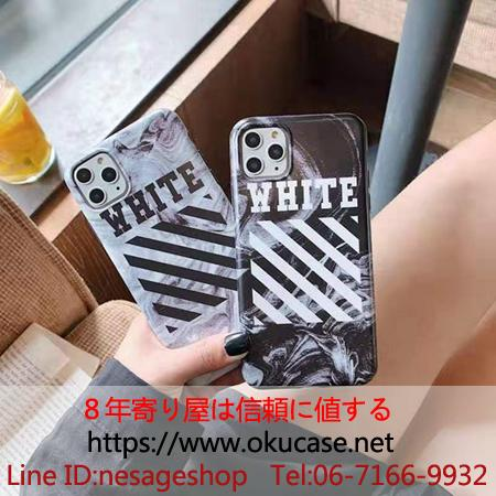 Off White iPhone11 11pro max ケース 斜め縞模様