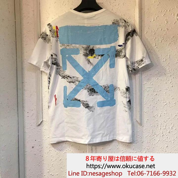 off white tシャツ プリント